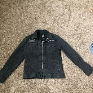 Vans black denim jacket